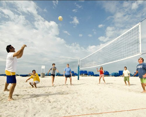 An outdoor beach volleyball court.