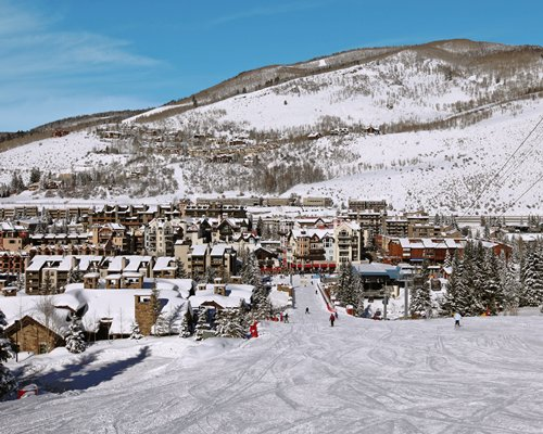 An aerial view of Vail Run Resort.
