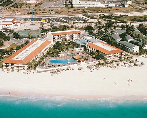 An aerial view of Aruba Beach Club.