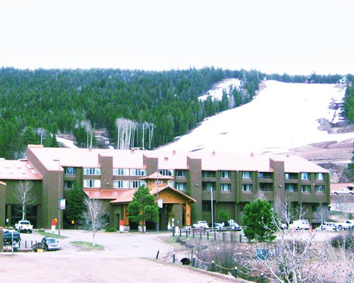 The Commons Resort covered in snow.