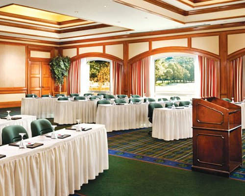 A conference hall in a Sea Pines Plantation resort.