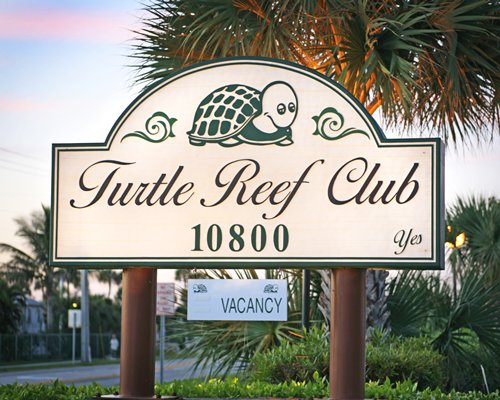 Signboard of Turtle Reef Club.