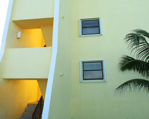 Exterior view of the stairway to a unit at Turtle Reef Club.