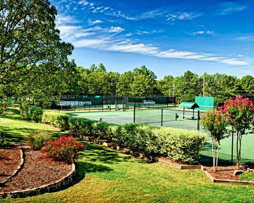 Scenic view of a tennis court.