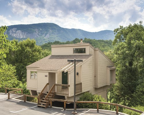 Scenic exterior view of a condo at Wyndham Resort At Fairfield Mountains.