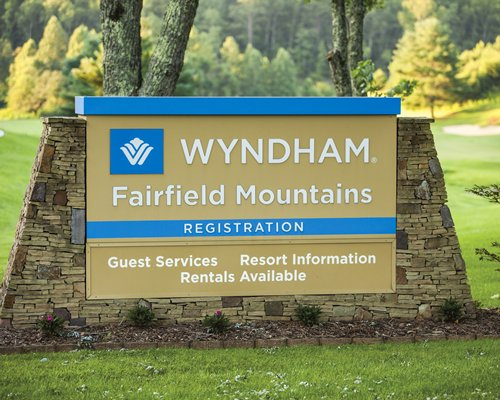 A signboard of Wyndham Resort.
