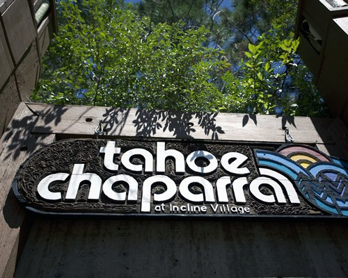 The signboard of Tahoe Chaparral.