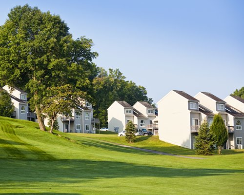 View of multiple villas near the golf course.