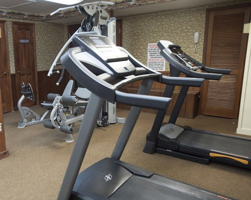 A well equipped fitness centre.