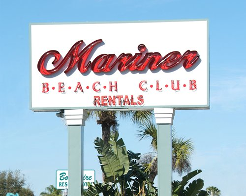 Signboard of Mariner Beach Club.