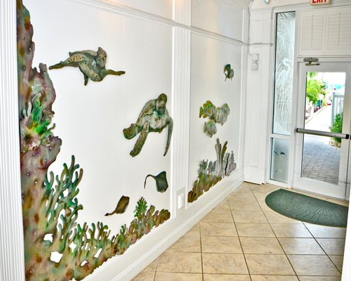 A decorative wall of an entrance hallway.