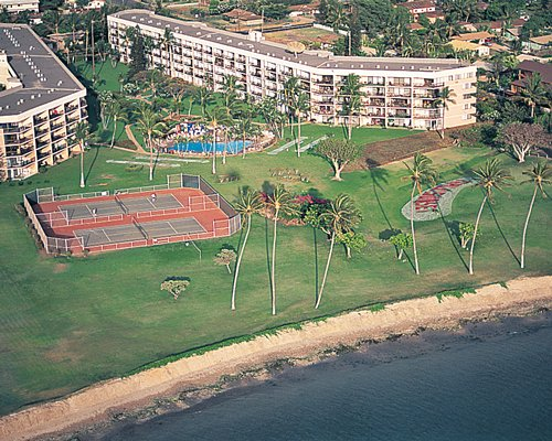 An aerial view of Maui Sunset II resort.