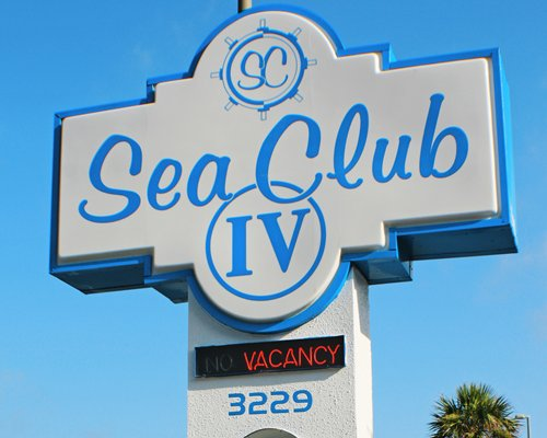 Signboard of Sea Club IV resort.