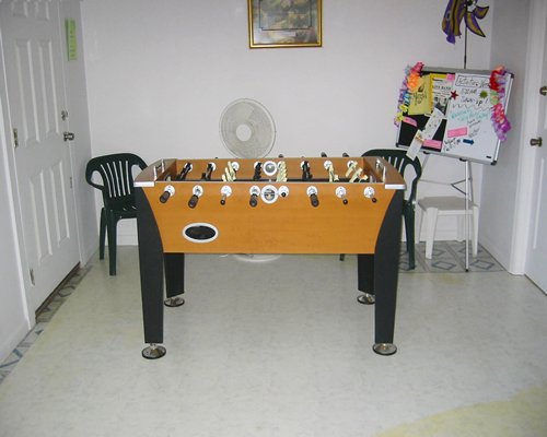 An indoor table soccer.