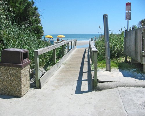 A pathway leading to the beach.