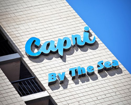 Signboard of Capri by the Sea.
