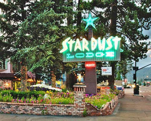 Signboard of Stardust Tahoe resort.