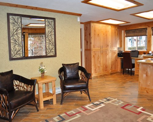 An open reception room.