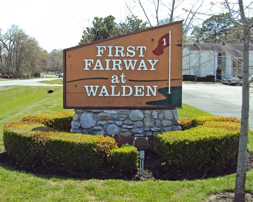 Signboard of First Fairway at Walden resort.