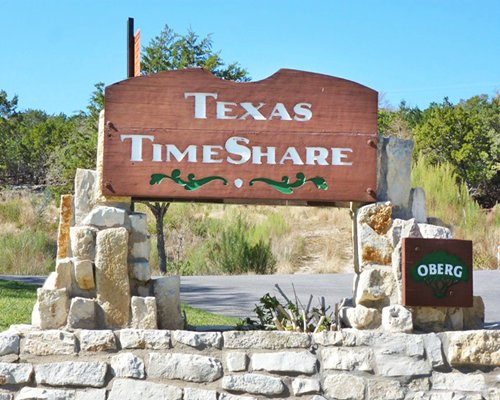 Signboard of Texas Timeshare resort.