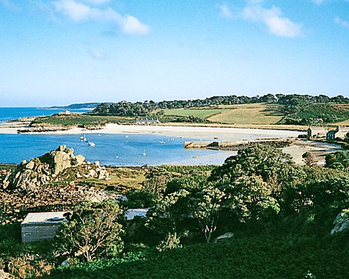 An exterior view outside of Tresco.