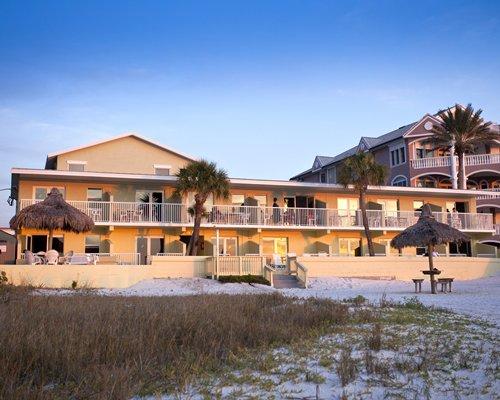 An exterior view of Hideaway Sands Resort.
