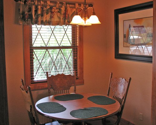Dining area with outside view.