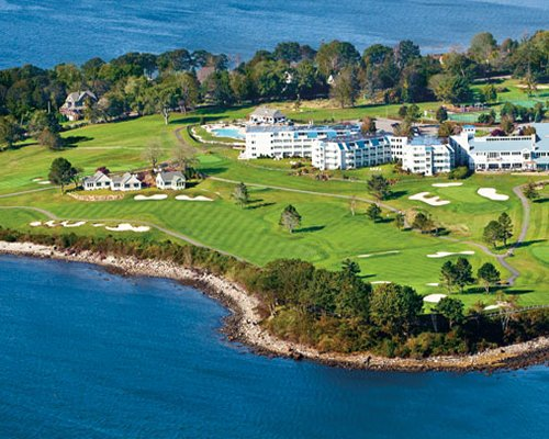 An aerial view of Samoset Resort.