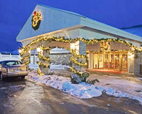 A street view of Samoset Resort festively decorated.