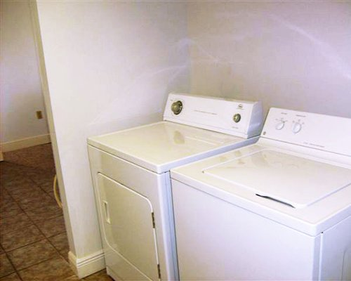 A well equipped laundry room.