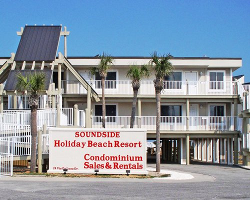 A street view of the Holiday Beach Resort Soundside building.
