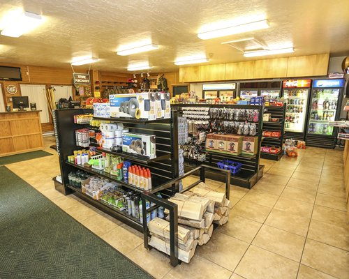 Indoor grocery store at East Canyon Resort.