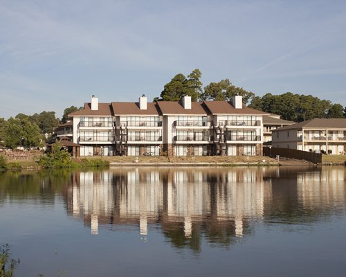 Lake view of Emerald Isle Condominiums resort.
