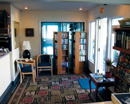 Library at Rockaway Beach Resort.