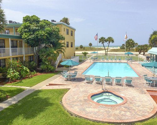 Signboard of Treasure Island Beach Club Vacation Resort.