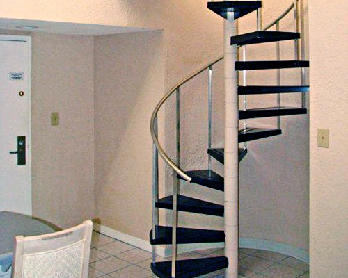 An indoor staircase.