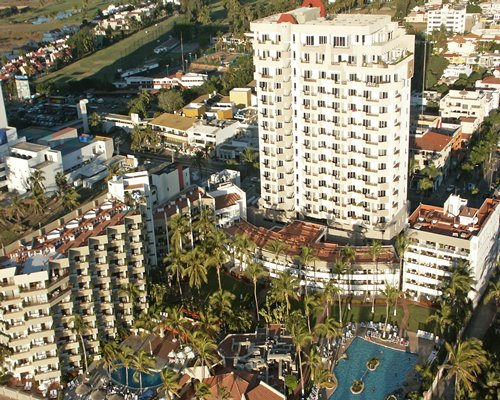 An aerial view of the Inn at Mazatlan Resort.