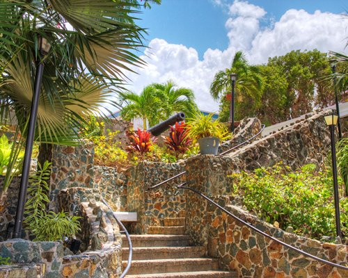 A scenic view of an outdoor staircase.
