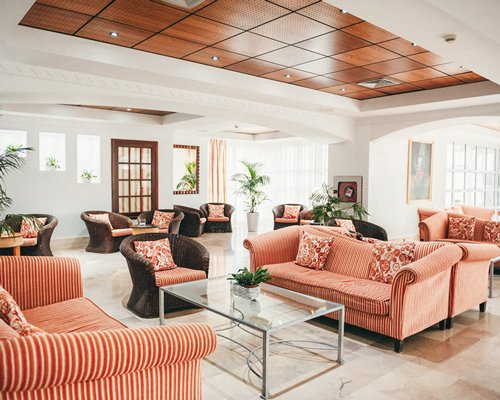 A well furnished lounge area of the Palm Beach Club Resort.