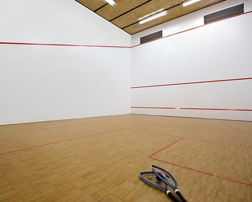 An indoor squash court.