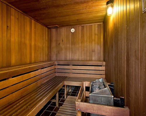 Wooden stream room.