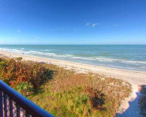 Beach view of the gulf from balcony.