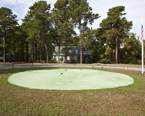 An outdoor golf course.