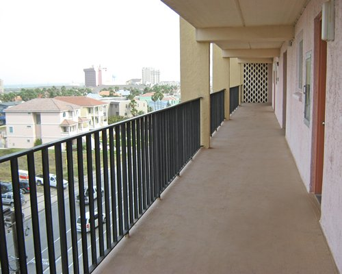 Balcony with an outside view.