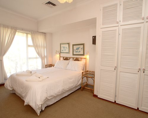Furnished bedroom.