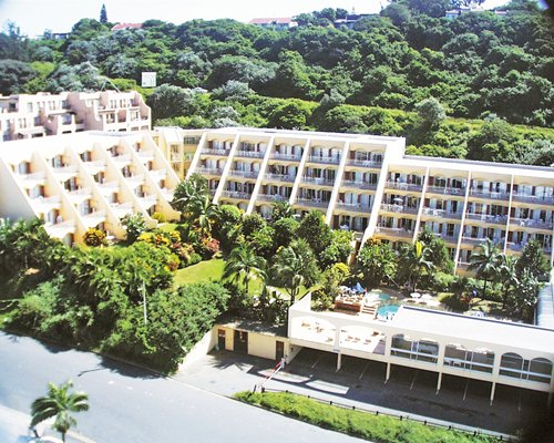 An aerial view of Umhlanga Cabanas Resort.