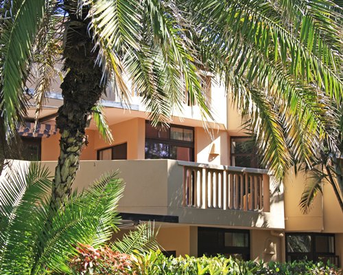 Scenic exterior view of a unit with balcony at La Lucia Sands.