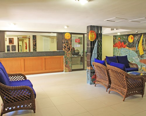 A well furnished lounge and reception area.