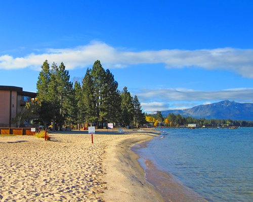 Beach view of Tahoe Beach & Ski Club resort.