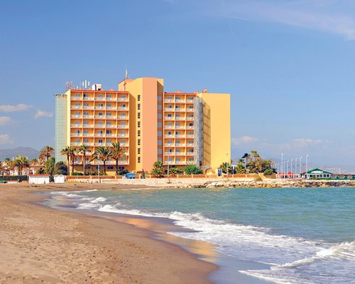 A view of Hotel Guadalmar from the beach.